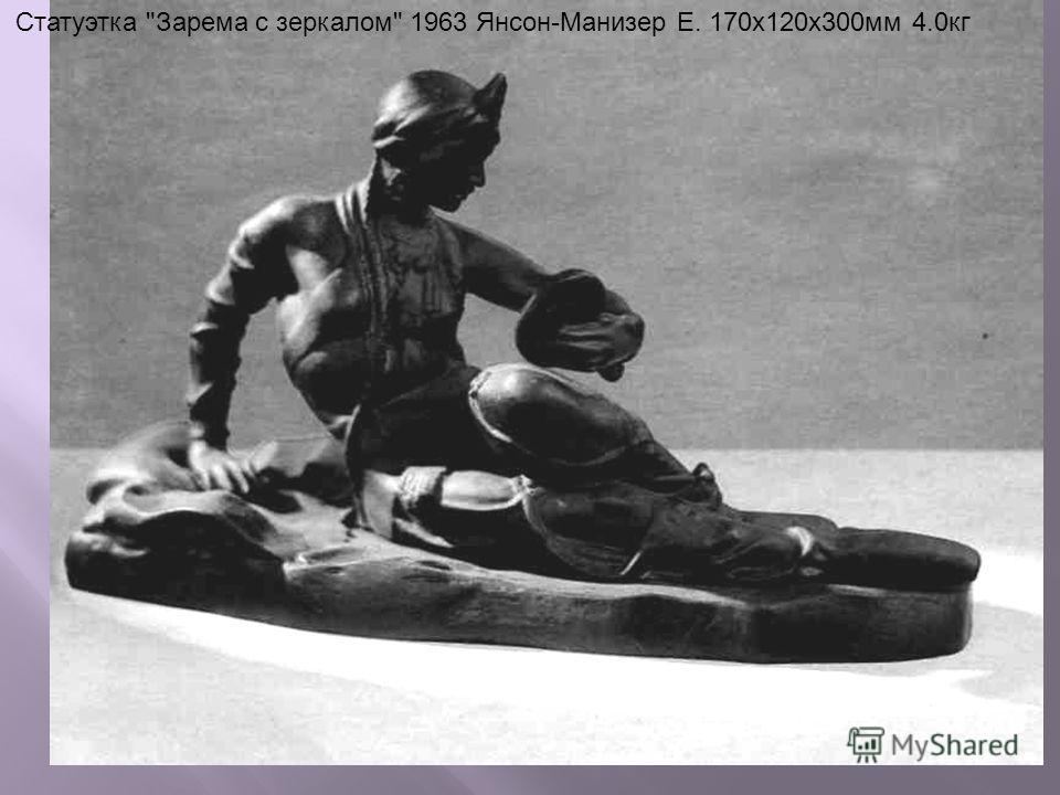 Статуэтка Зарема с зеркалом 1963 Янсон-Манизер Е. 170x120x300мм 4.0кг