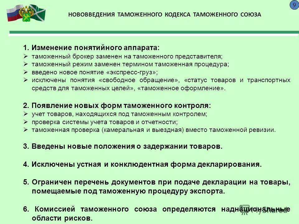 Таможенный кодекс рф принципы таможенного права