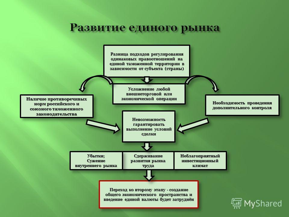 Разница подходов регулирования одинаковых правоотношений на единой таможенной территории в зависимости от субъекта (страны) Необходимость проведения дополнительного контроля Наличие противоречивых норм российского и союзного таможенного законодательс
