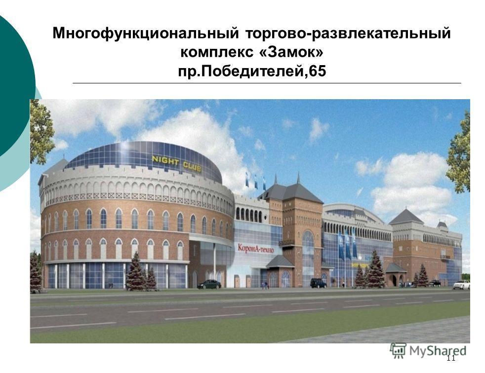 11 Многофункциональный торгово-развлекательный комплекс «Замок» пр.Победителей,65