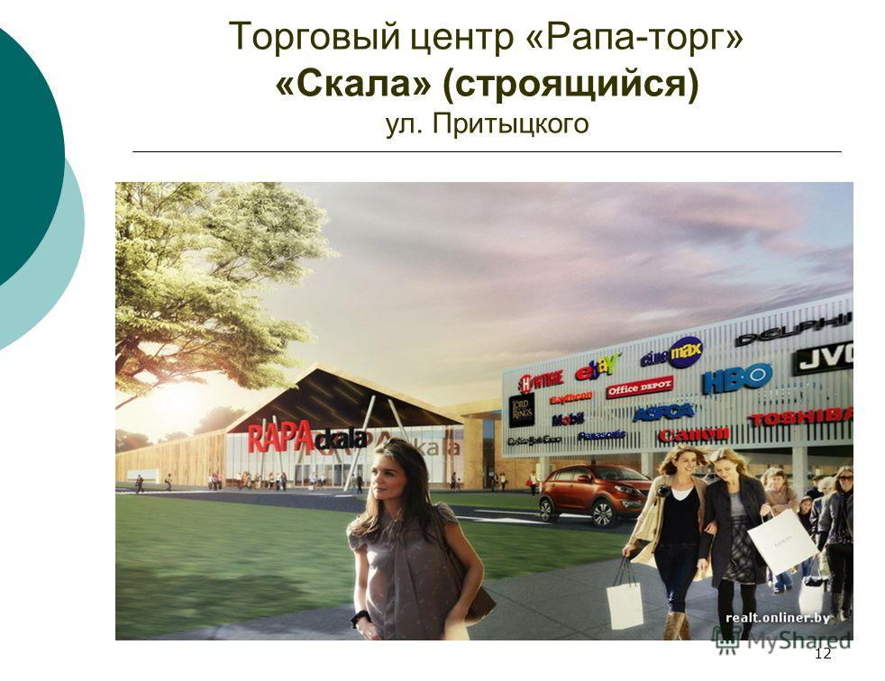 Торговый центр «Рапа-торг» «Скала» (строящийся) ул. Притыцкого 12