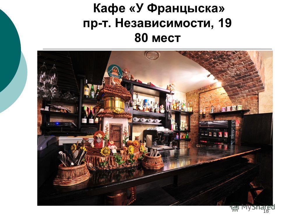 18 Кафе «У Францыска» пр-т. Независимости, 19 80 мест