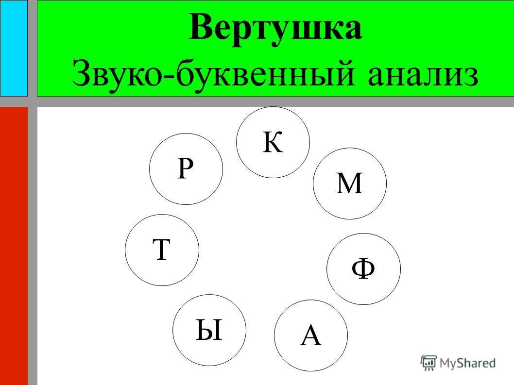 Вертушка Звуко-буквенный анализ Р К М Т Ы А Ф