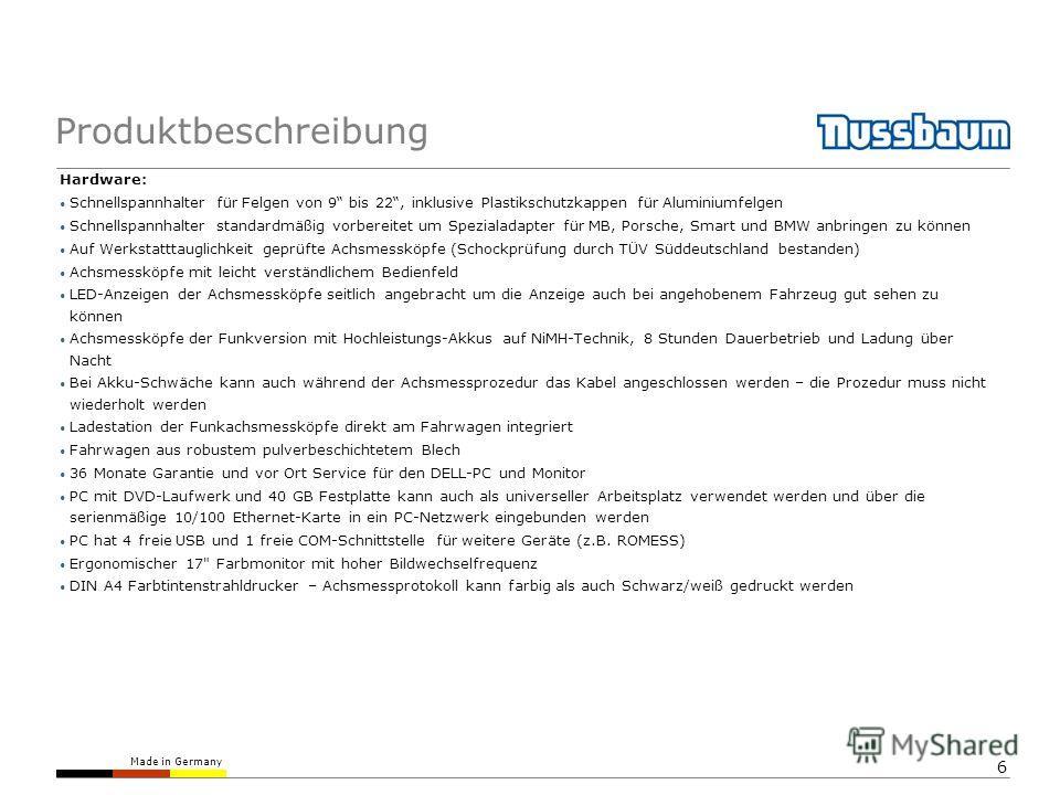 Made in Germany 6 Produktbeschreibung Hardware: Schnellspannhalter für Felgen von 9 bis 22, inklusive Plastikschutzkappen für Aluminiumfelgen Schnellspannhalter standardmäßig vorbereitet um Spezialadapter für MB, Porsche, Smart und BMW anbringen zu k