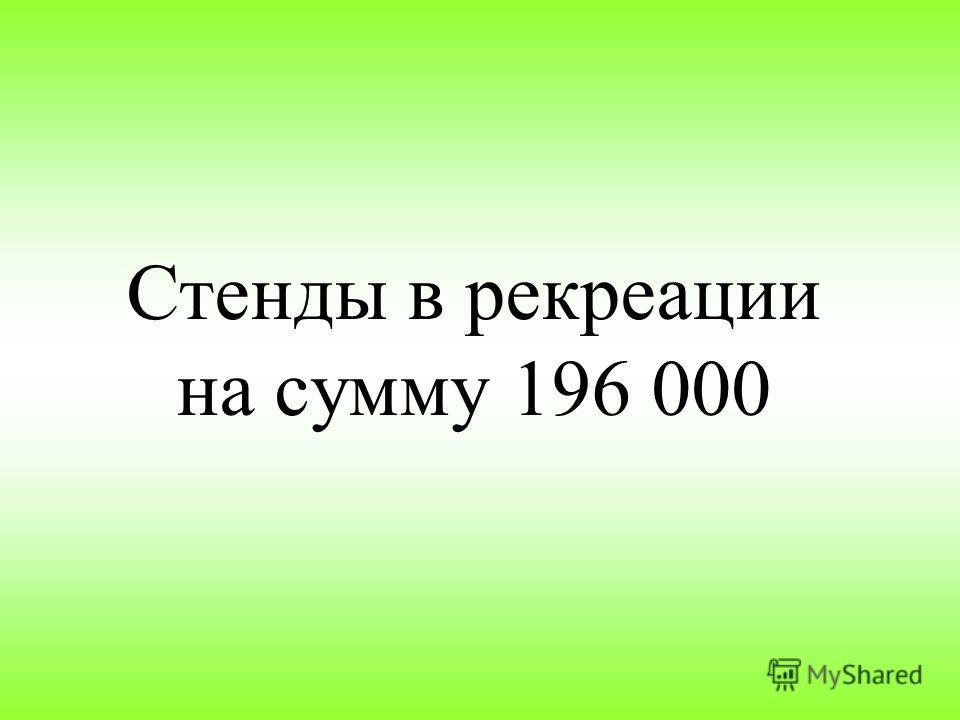 Стенды в рекреации на сумму 196 000