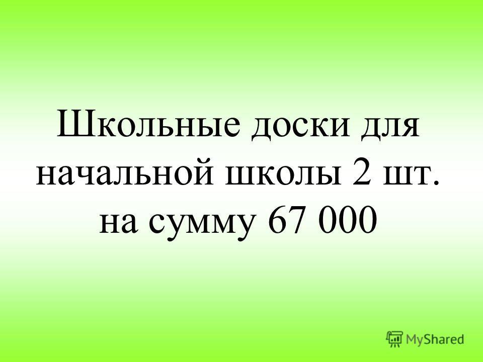 Школьные доски для начальной школы 2 шт. на сумму 67 000