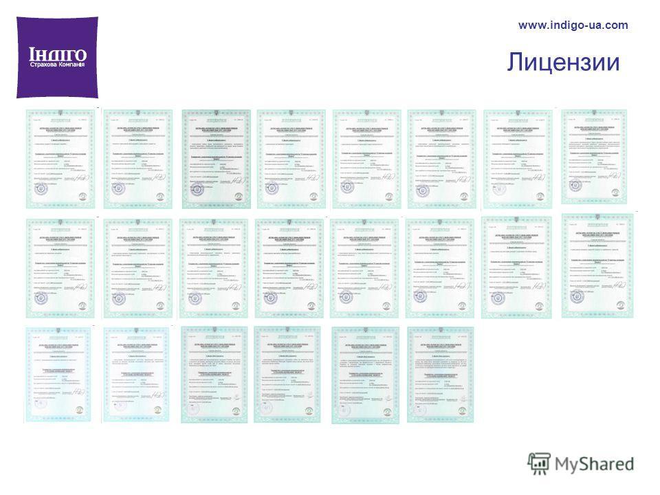 Лицензии www.indigo-ua.com
