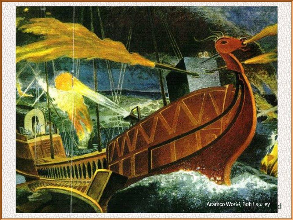 иные из них были настигнуты греческими большими кораблями, которые и предали их пучине со всеми гребцами и воинами; другие, будучи рассечены пополам, были выкинуты на ближайшие берега.