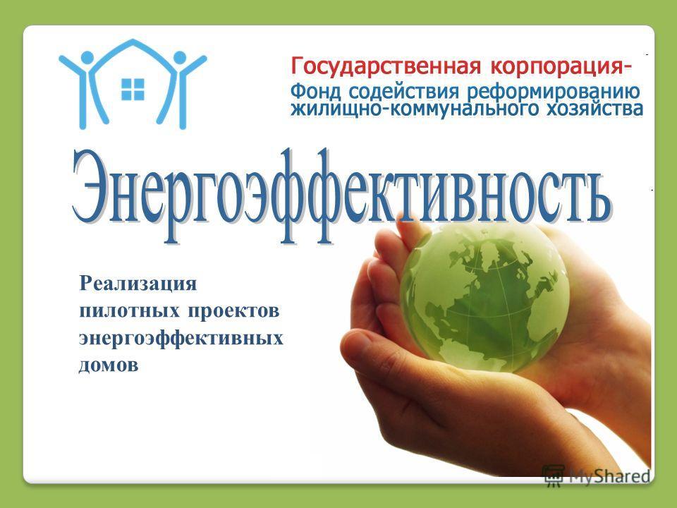 1 Реализация пилотных проектов энергоэффективных домов