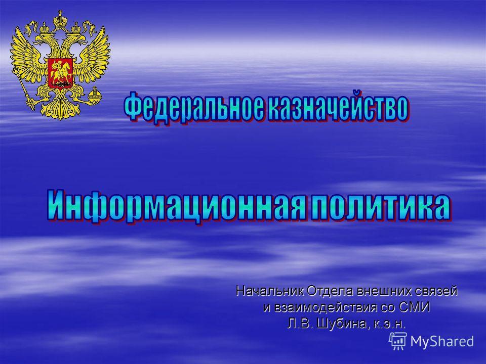 Начальник Отдела внешних связей и взаимодействия со СМИ Л.В. Шубина, к.э.н.
