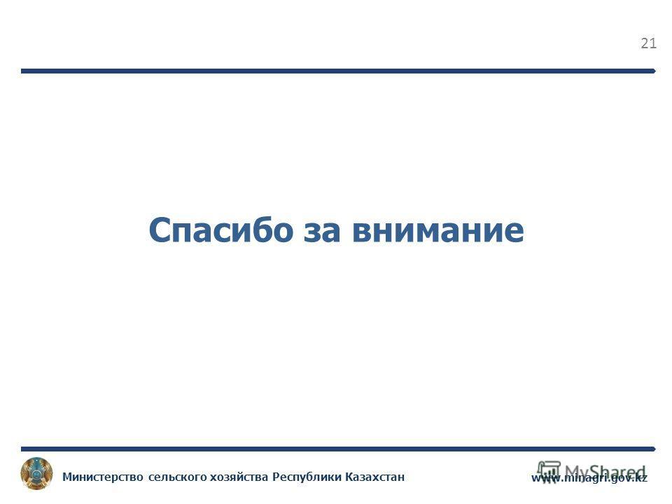 21 www.minagri.gov.kz Министерство сельского хозяйства Республики Казахстан Спасибо за внимание