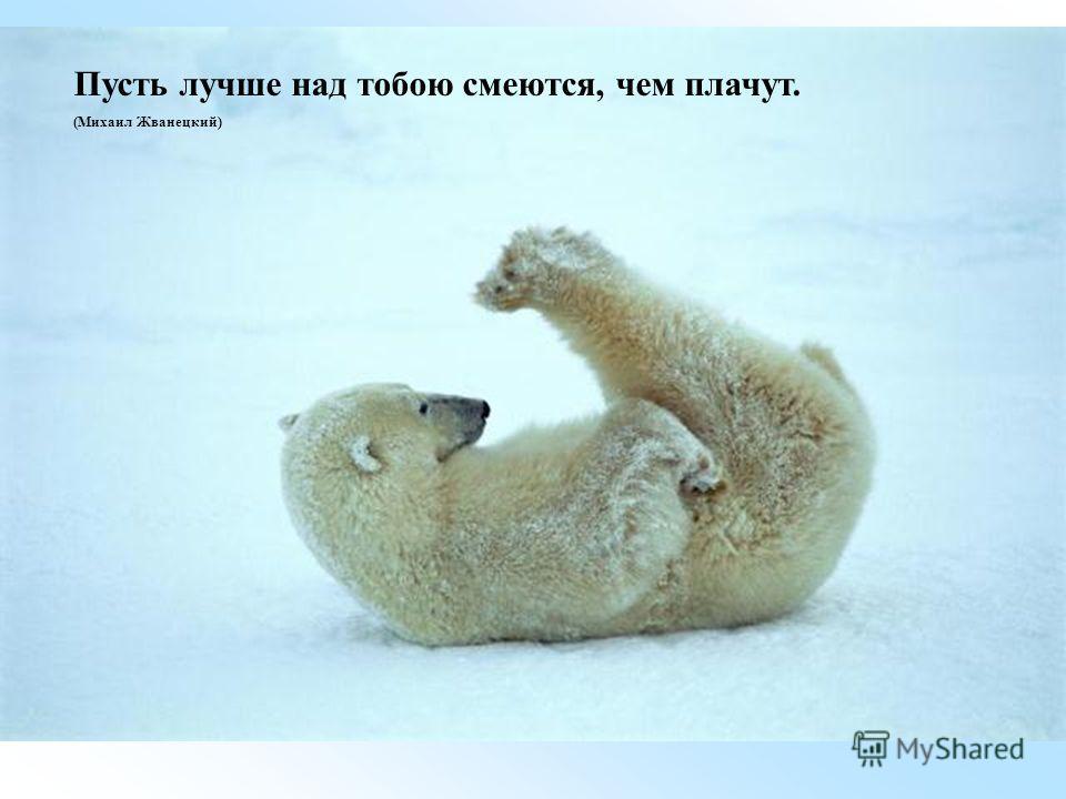 Пусть лучше над тобою смеются, чем плачут. (Михаил Жванецкий)