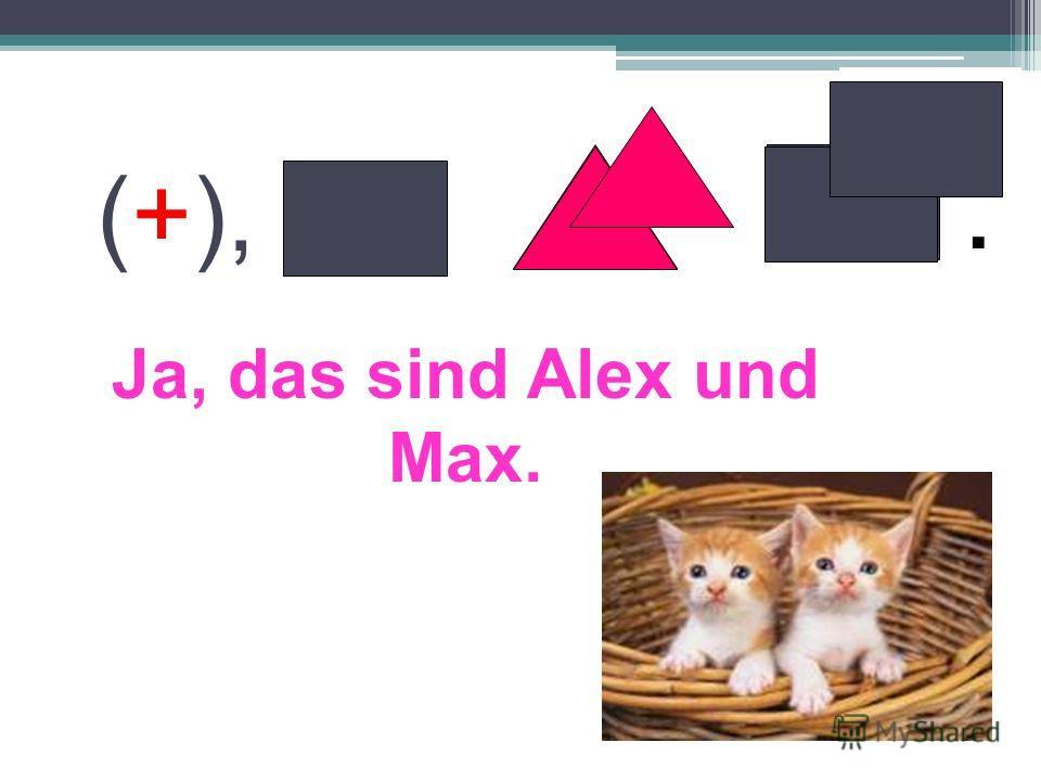 Ja, das sind Alex und Max. (+),.