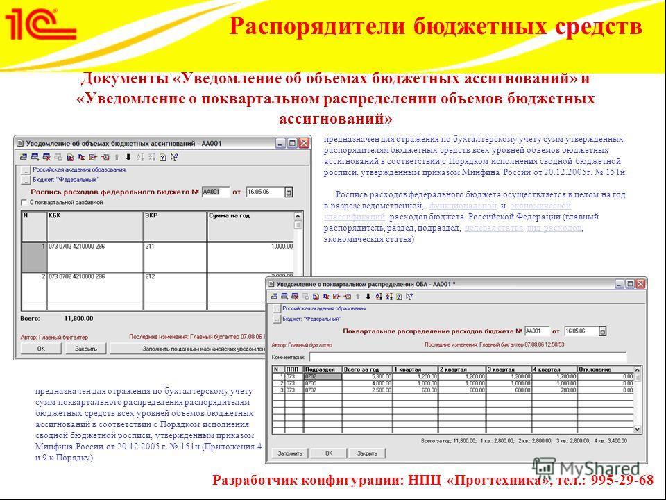 предназначен для отражения по бухгалтерскому учету сумм утвержденных распорядителям бюджетных средств всех уровней объемов бюджетных ассигнований в соответствии с Порядком исполнения сводной бюджетной росписи, утвержденным приказом Минфина России от