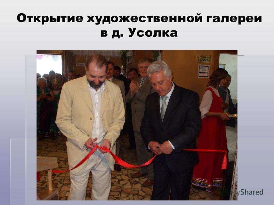 Открытие художественной галереи в д. Усолка