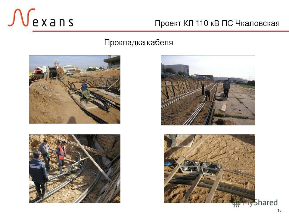 10 Проект КЛ 110 кВ ПС Чкаловская Прокладка кабеля