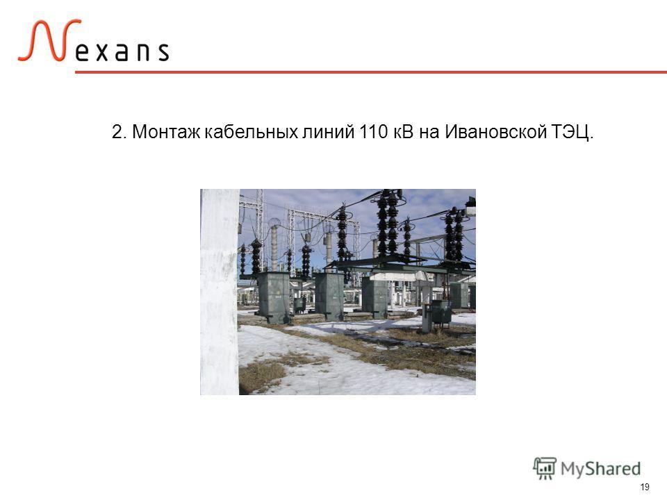 19 2. Монтаж кабельных линий 110 кВ на Ивановской ТЭЦ.