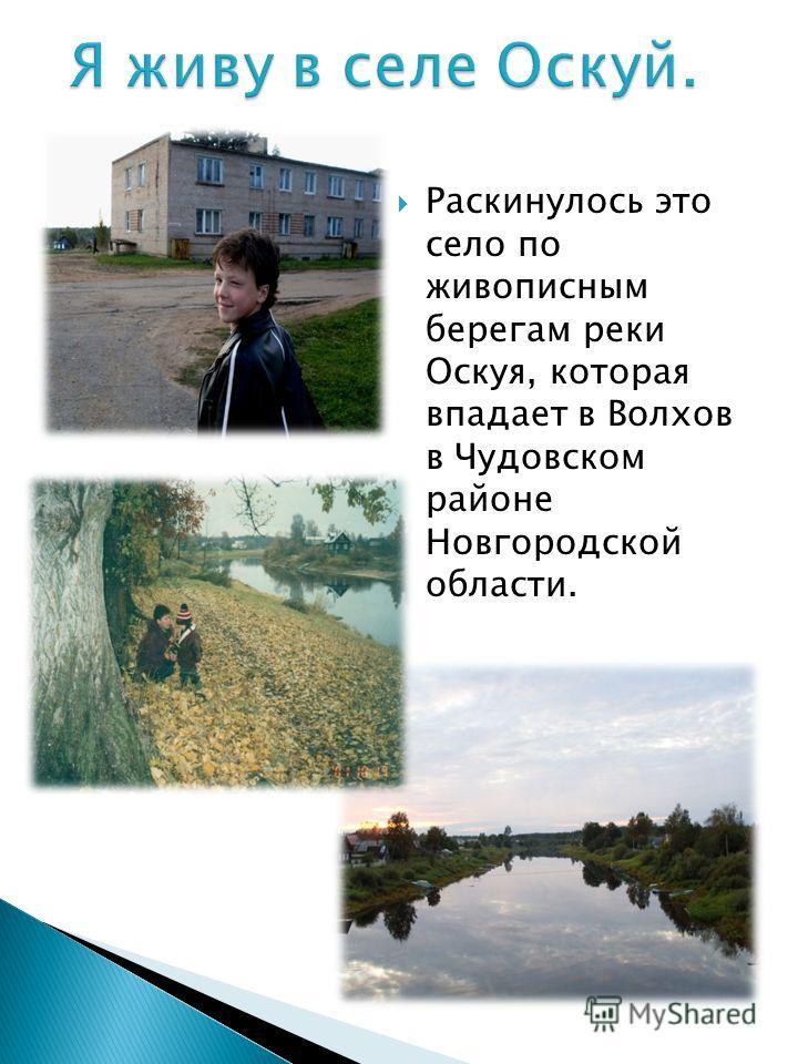 Меня зовут Кузьменко Ярослав Александрович. Родился 15 января 1999 года в г. Новгород. Пошёл в школу села Оскуй в 2005 году. В настоящее время учусь в 7 классе. Учусь неплохо. Нравятся уроки немецкого языка и физкультуры. С удовольствием занимаюсь в