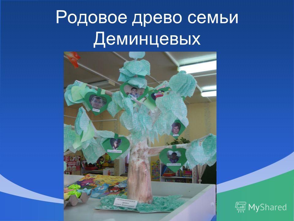 Родовое древо семьи Деминцевых