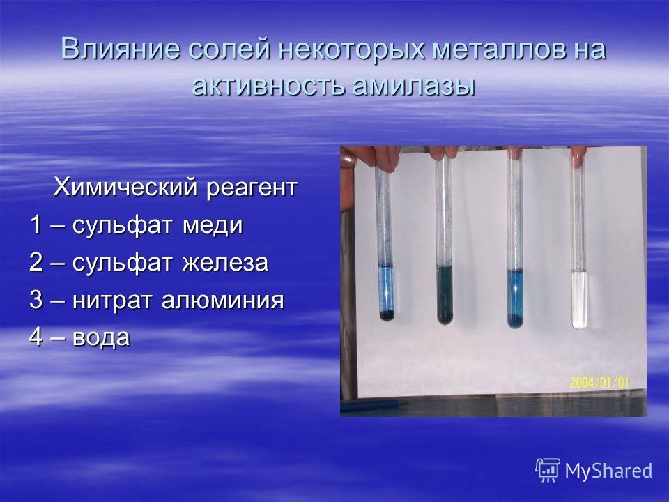 Действие амилазы на крахмал в нейтральной, кислой и щелочной среде 1 пробирка – нейтральная 2 пробирка – кислая 3 пробирка – щелочная