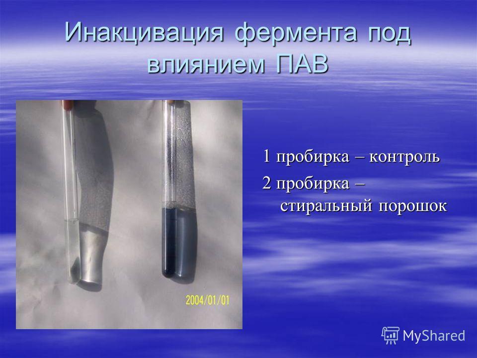 Формальдегид и активность амилазы 1 пробирка – 1 пробирка – формальдегид формальдегид 2 пробирка – 2 пробирка – вода вода