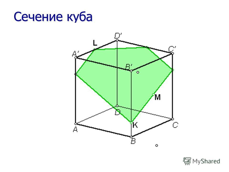 Сечение куба