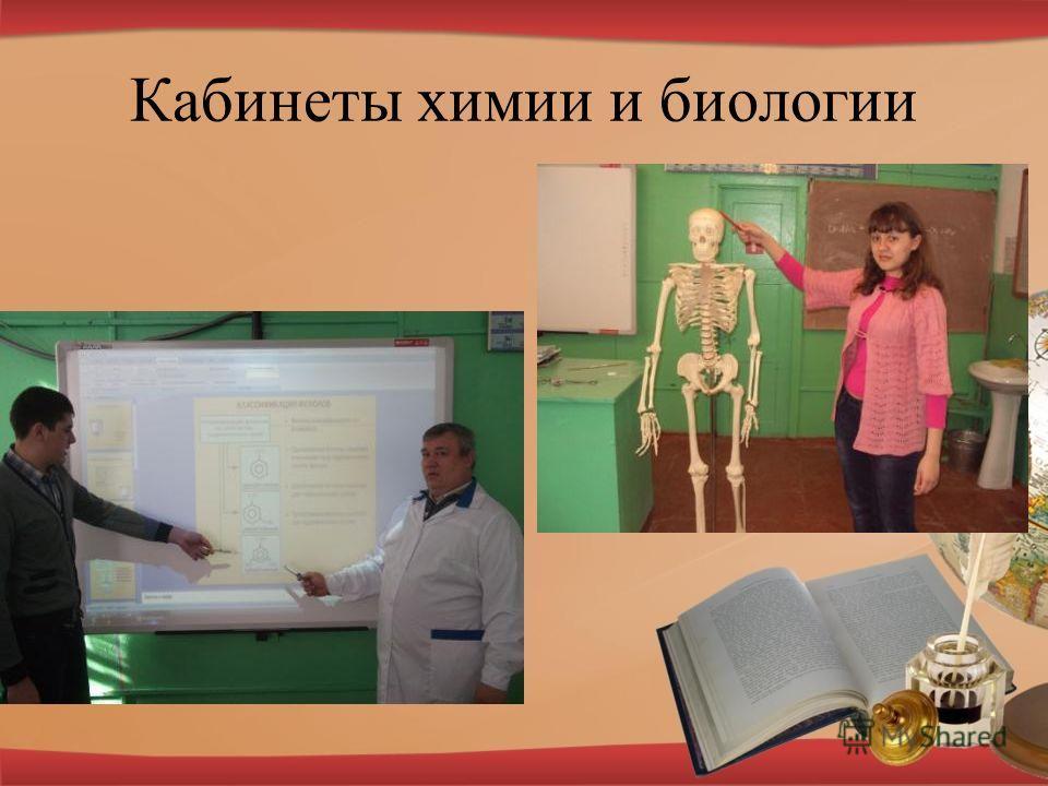 Кабинеты химии и биологии
