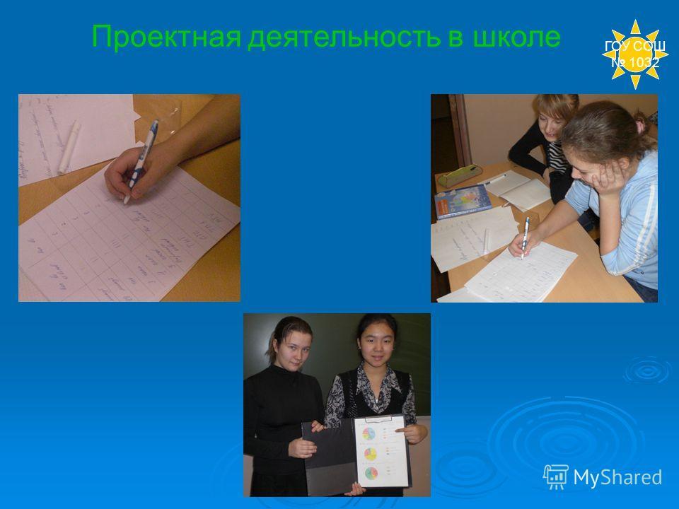 Проектная деятельность в школе ГОУ СОШ 1032