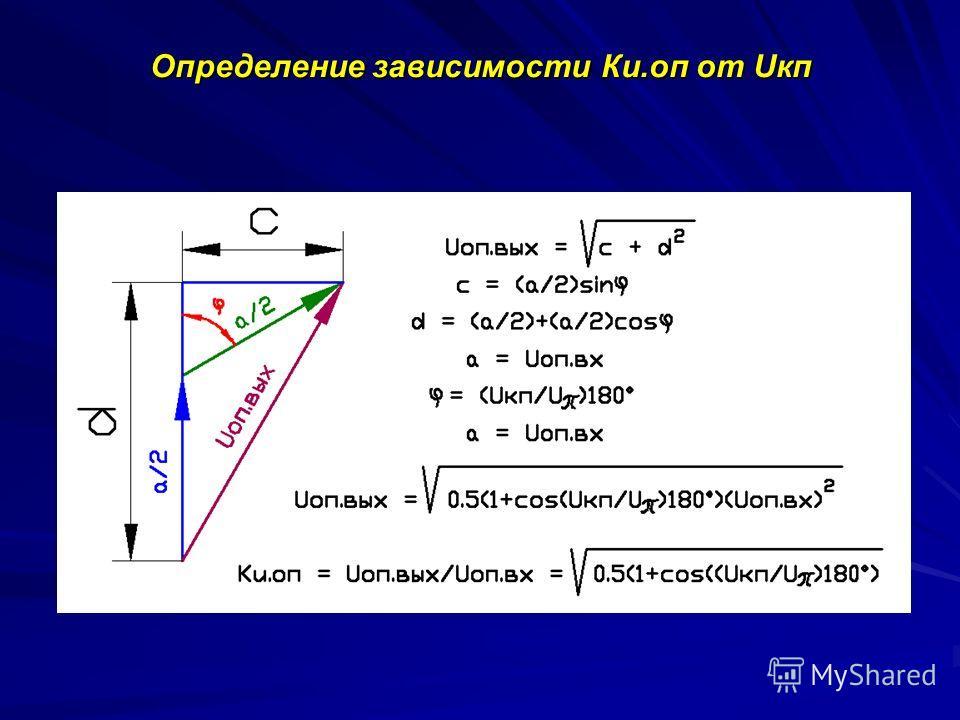 Определение зависимости Кu.оп от Uкп