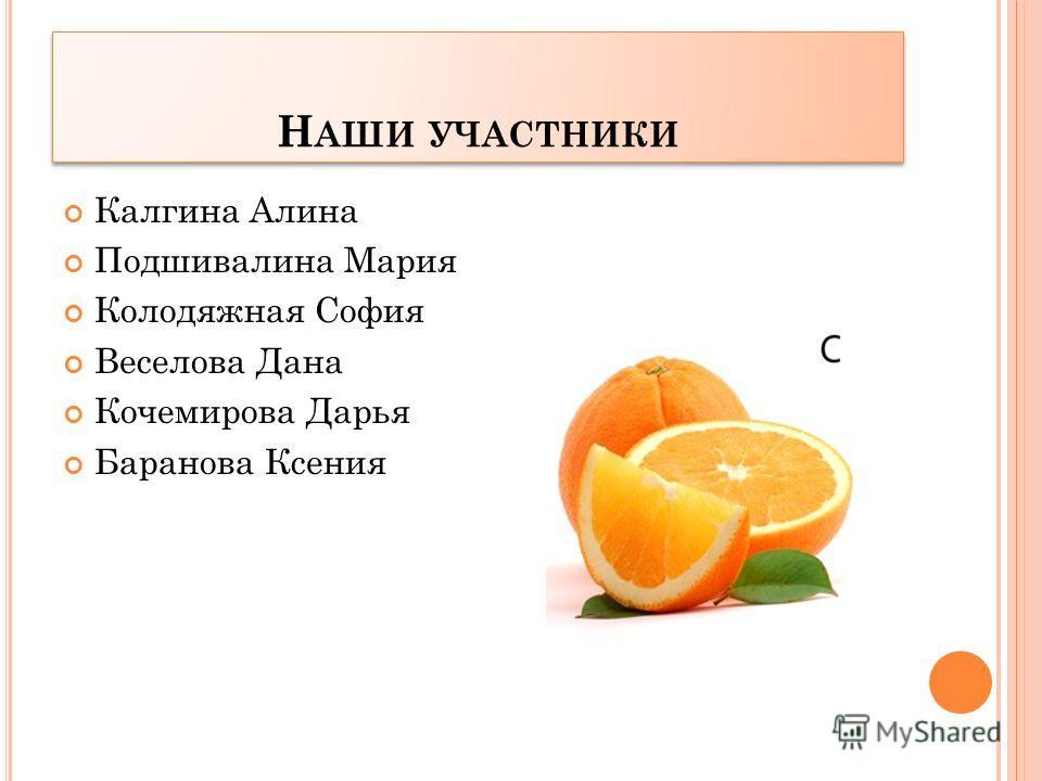 АПЕЛЬСИН Мы, как дольки апельсина, Все дружны и неделимы !!!