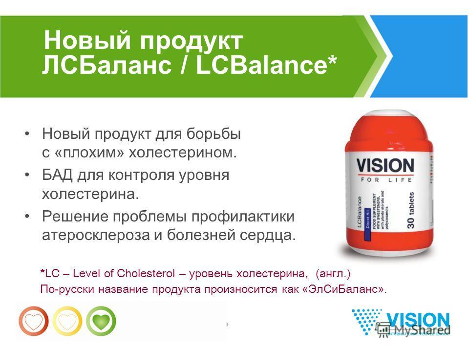 19 Новый продукт ЛСБаланс / LCBalance* Новый продукт для борьбы с « плохим » холестерином. БАД для контроля уровня холестерина. Решение проблемы профилактики атеросклероза и болезней сердца. *LC – Level of Cholesterol – уровень холестерина, (англ.) П
