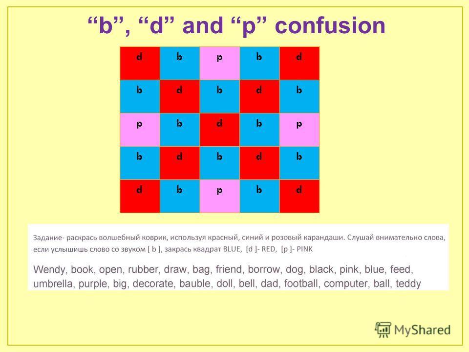b, d and p confusion dbpbd bdbdb pbdbp bdbdb dbpbd