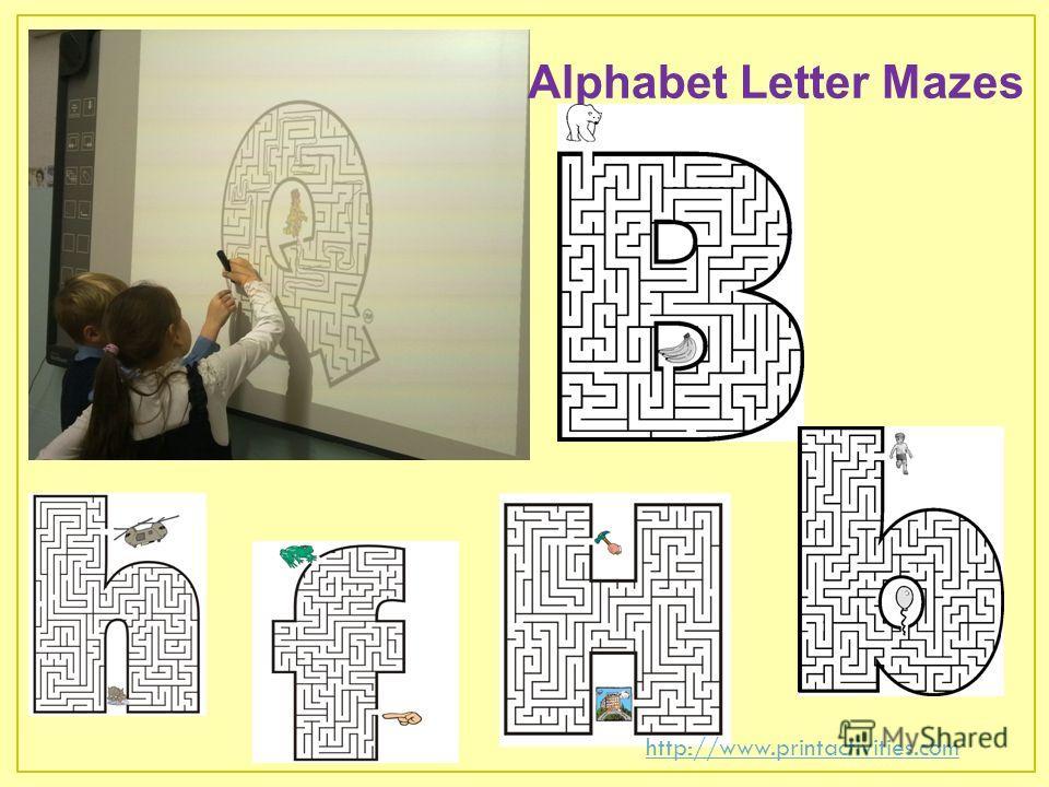 Alphabet Letter Mazes http://www.printactivities.com