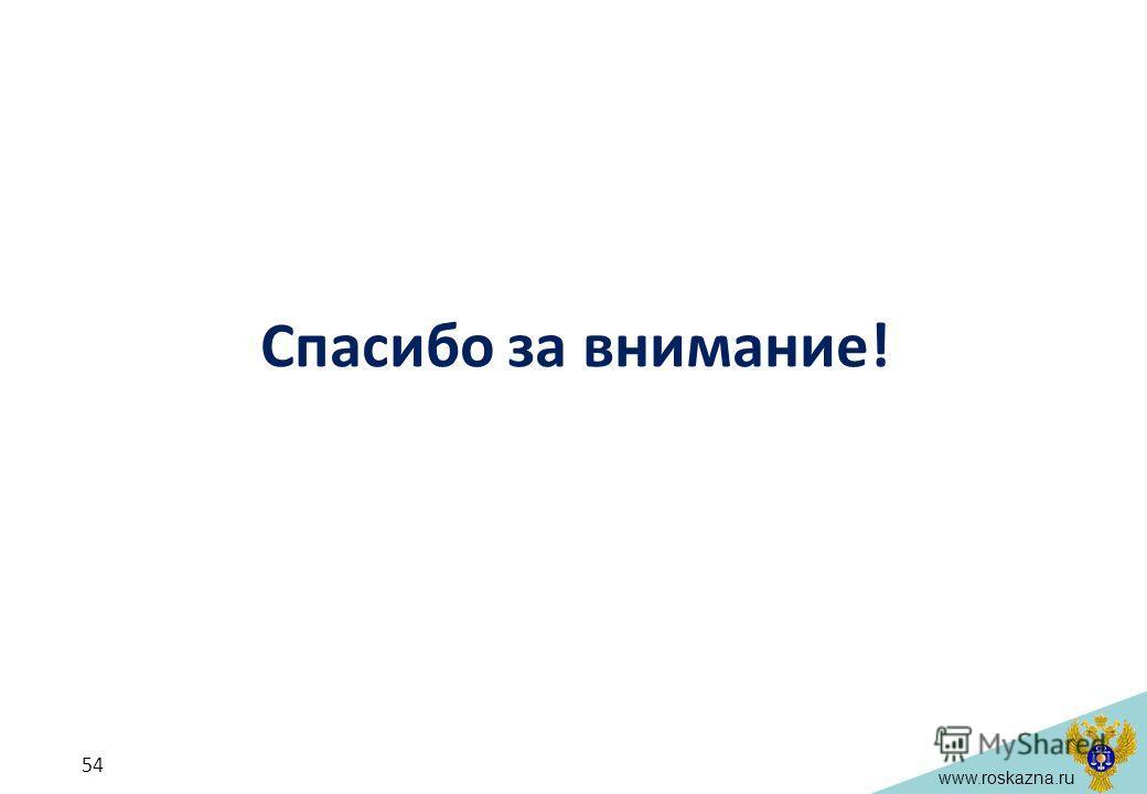 www.roskazna.ru Спасибо за внимание! 54