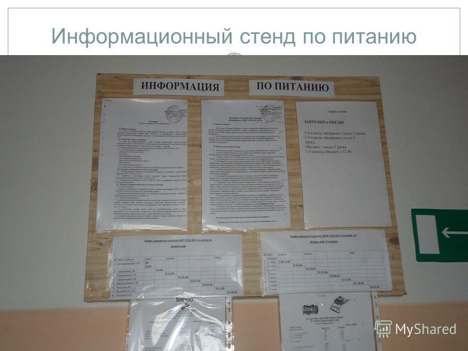 Информационный стенд по питанию