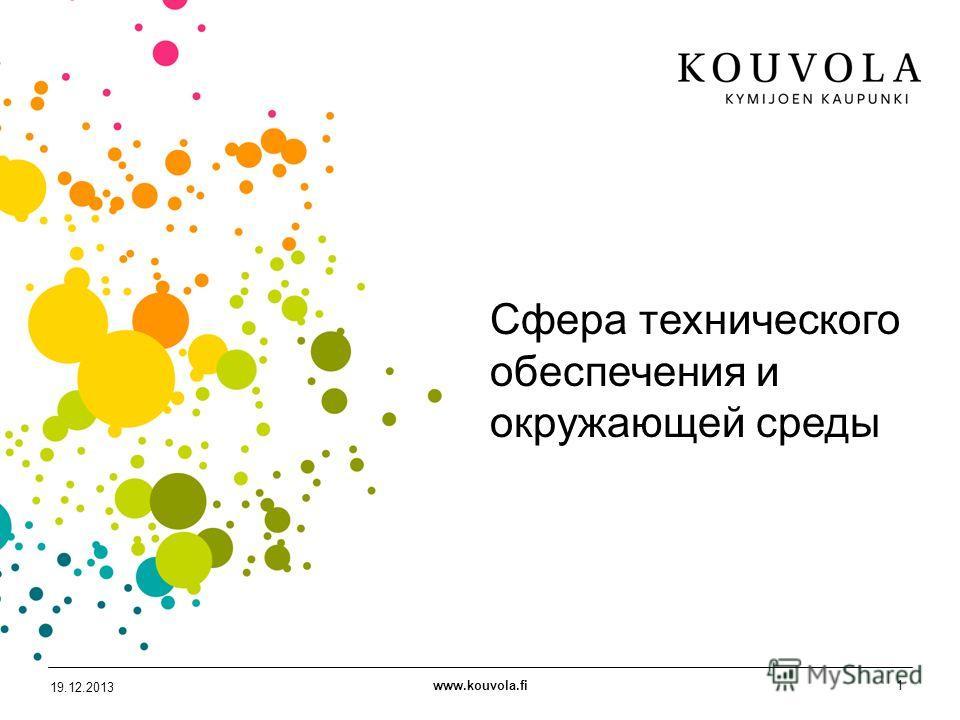 www.kouvola.fi1 19.12.2013 Сфера технического обеспечения и окружающей среды