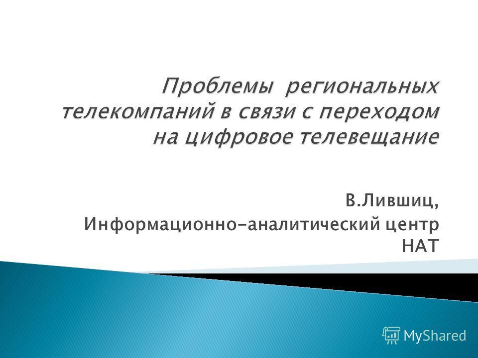 В.Лившиц, Информационно-аналитический центр НАТ