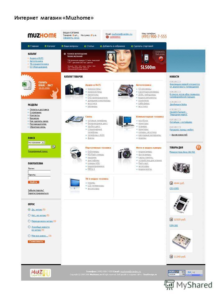 Интернет магазин «Muzhome»