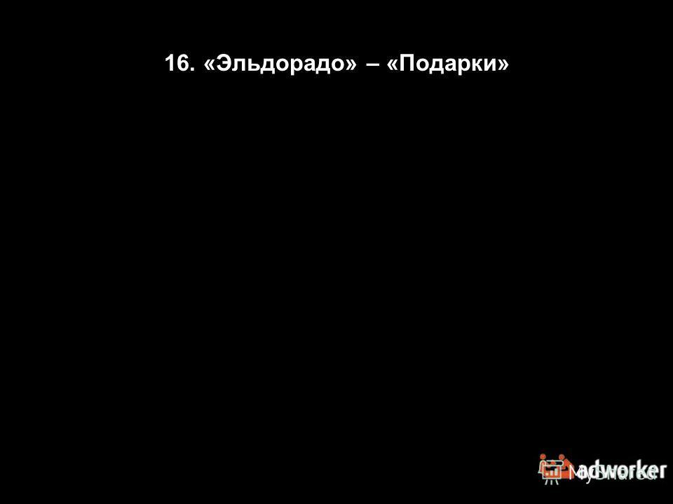 16. «Эльдорадо» – «Подарки»