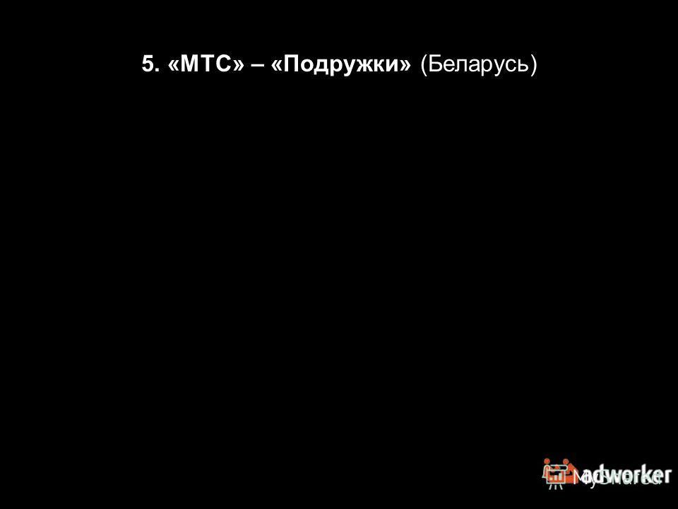 5. «МТС» – «Подружки» (Беларусь)