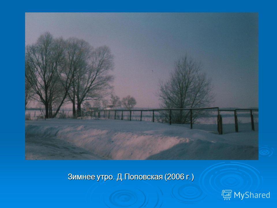 Зимнее утро. Д.Поповская (2006 г.)