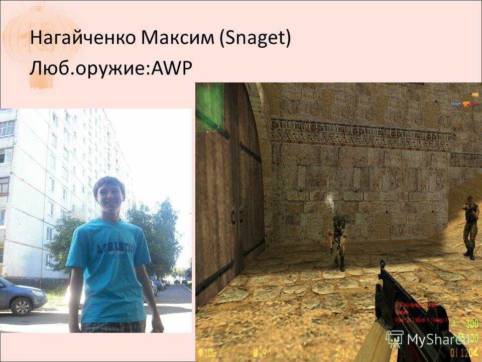 Нагайченко Максим (Snaget) Люб.оружие:AWP