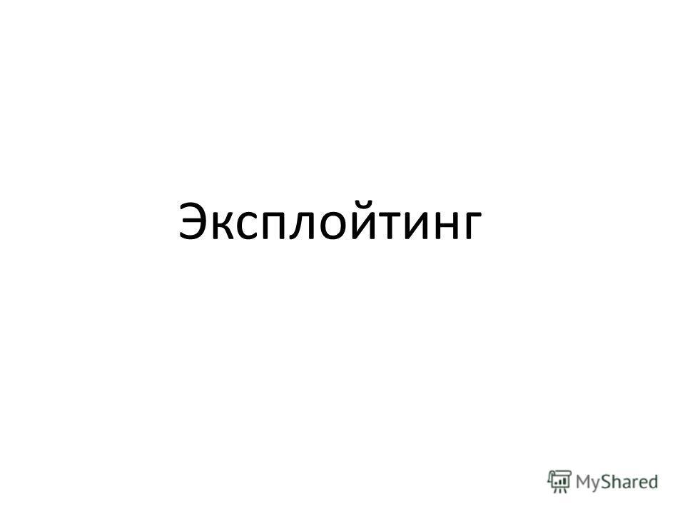 Эксплойтинг