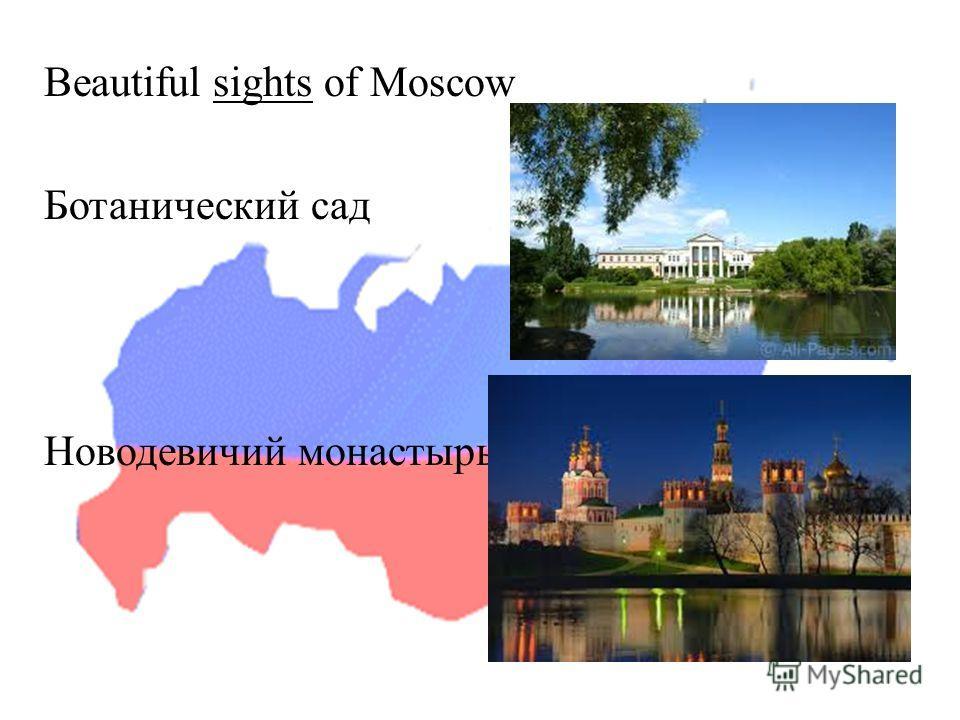 Beautiful sights of Moscow Ботанический сад Новодевичий монастырь
