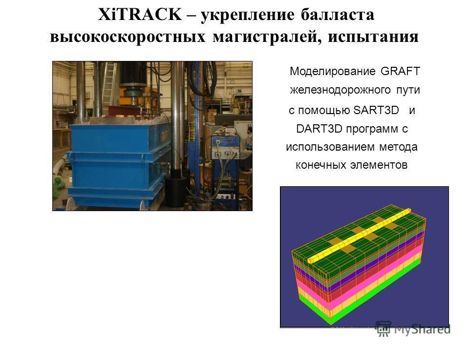 Моделирование GRAFT железнодорожного пути с помощью SART3D и DART3D программ с использованием метода конечных элементов XiTRACK – укрепление балласта высокоскоростных магистралей, испытания
