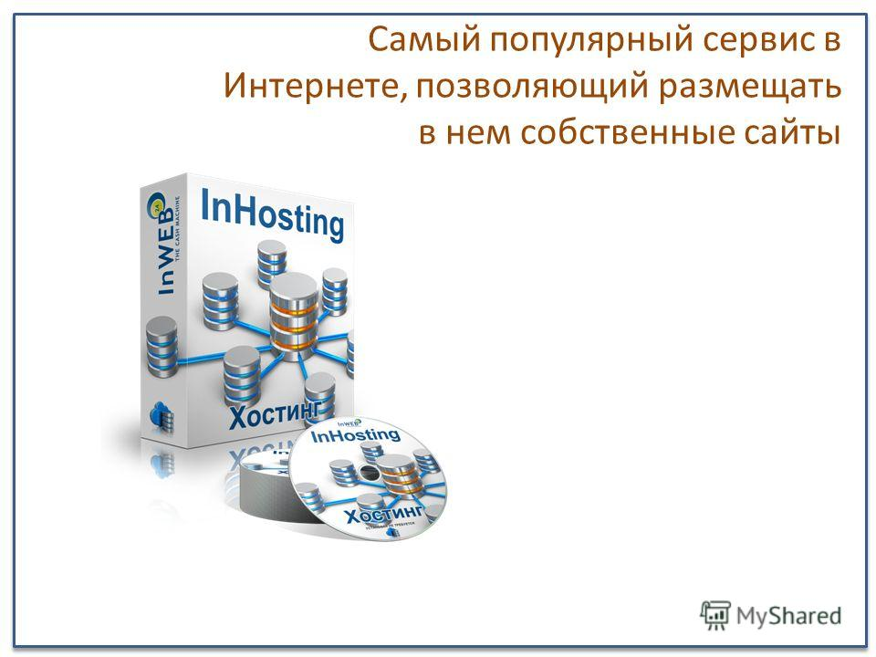Самый популярный сервис в Интернете, позволяющий размещать в нем собственные сайты