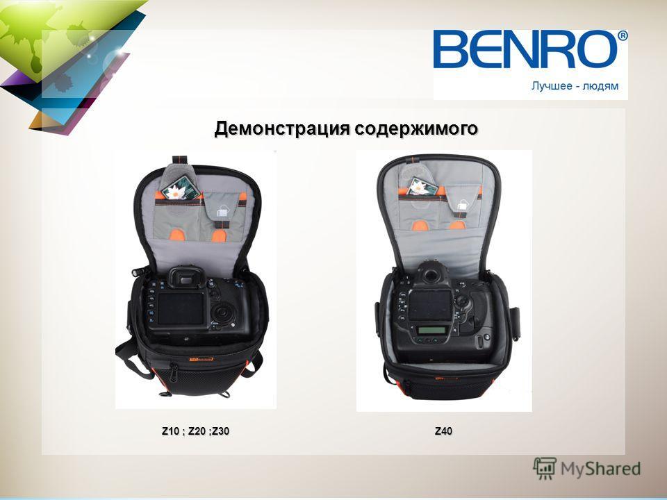 Демонстрация содержимого Z10 ; Z20 ;Z30 Z40