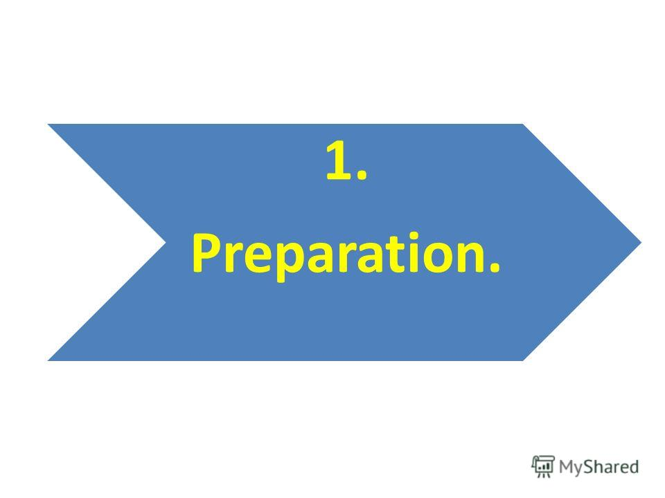 1. Preparation.