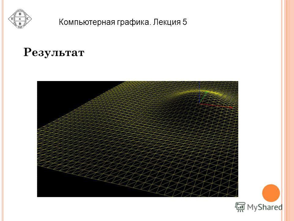 Компьютерная графика. Лекция 5 Результат