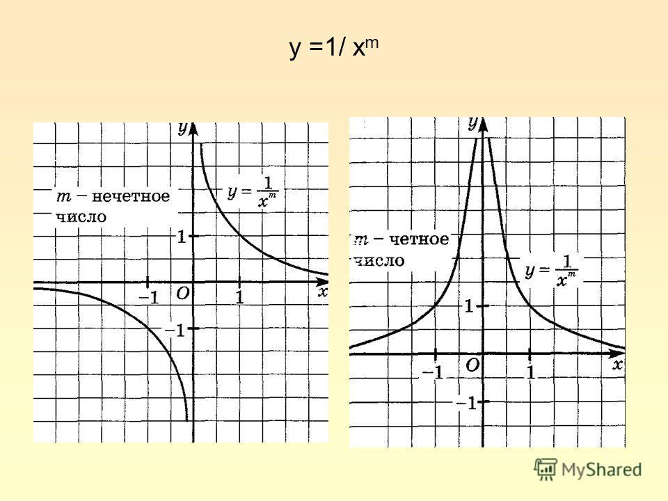 y =1/ x m